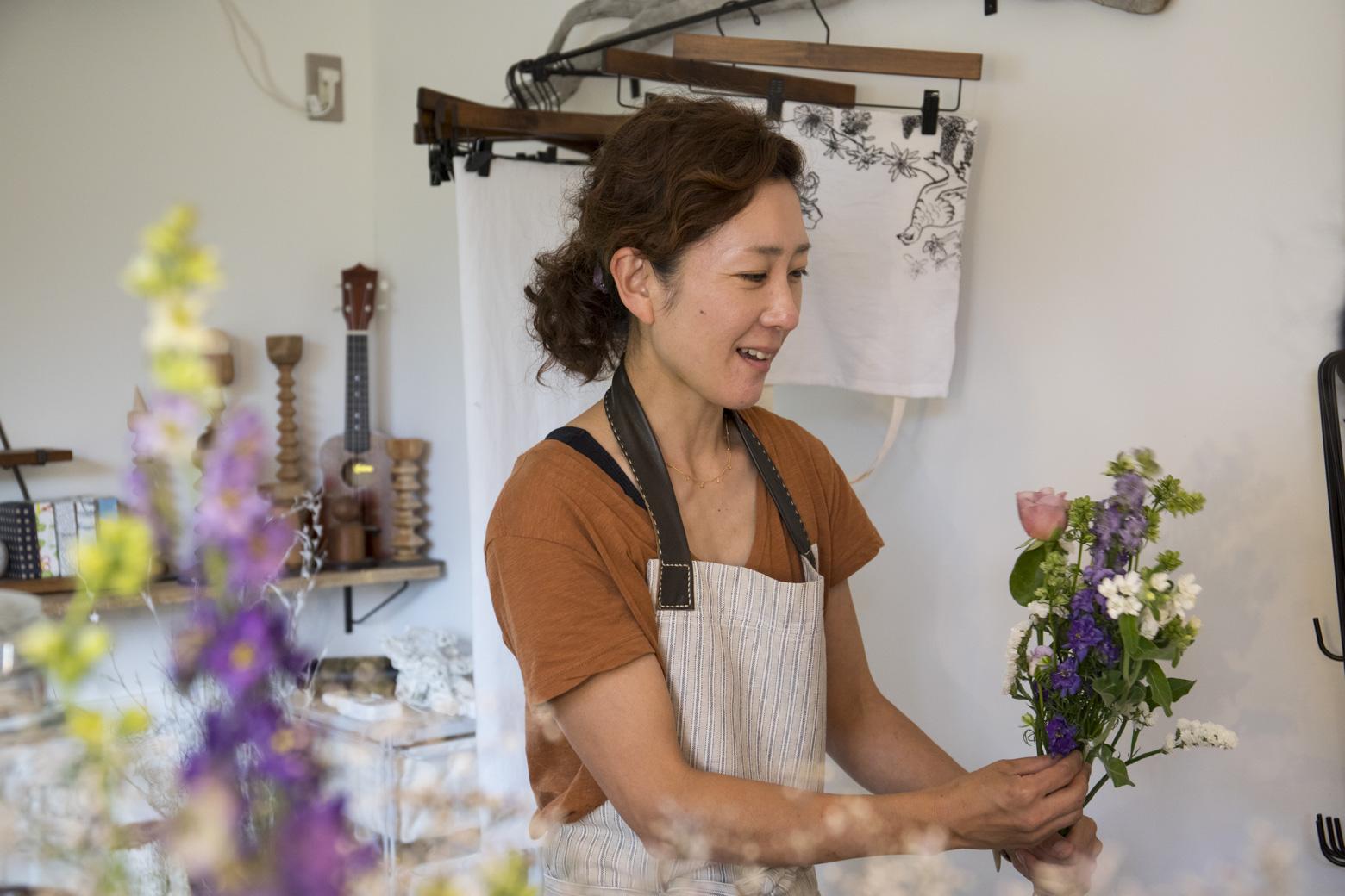 Floral Design Studio MIKI&CO.のオーナーみきさん