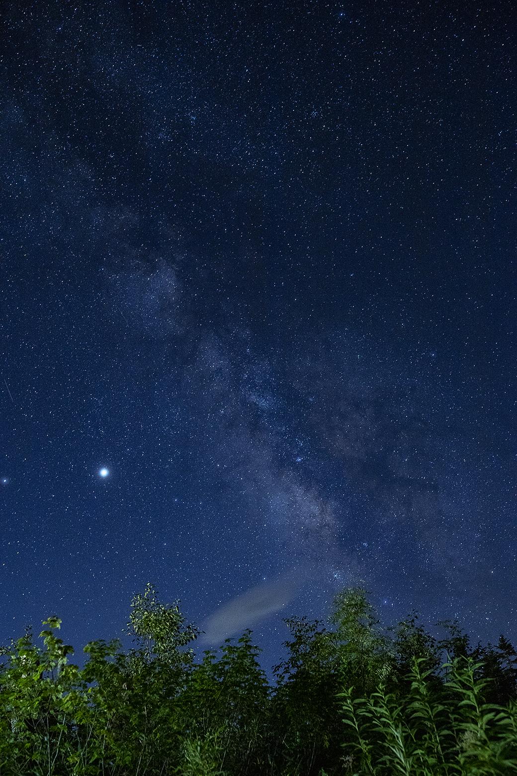 天の川と木星