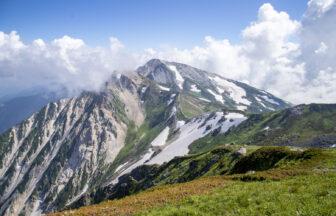 杓子岳と白馬鑓ヶ岳